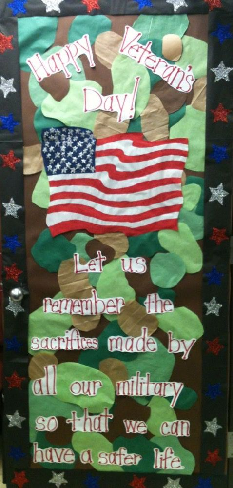 Veterans Day Classroom Door Decoration Door Decorations Classroom Veterans Day Veterans Day