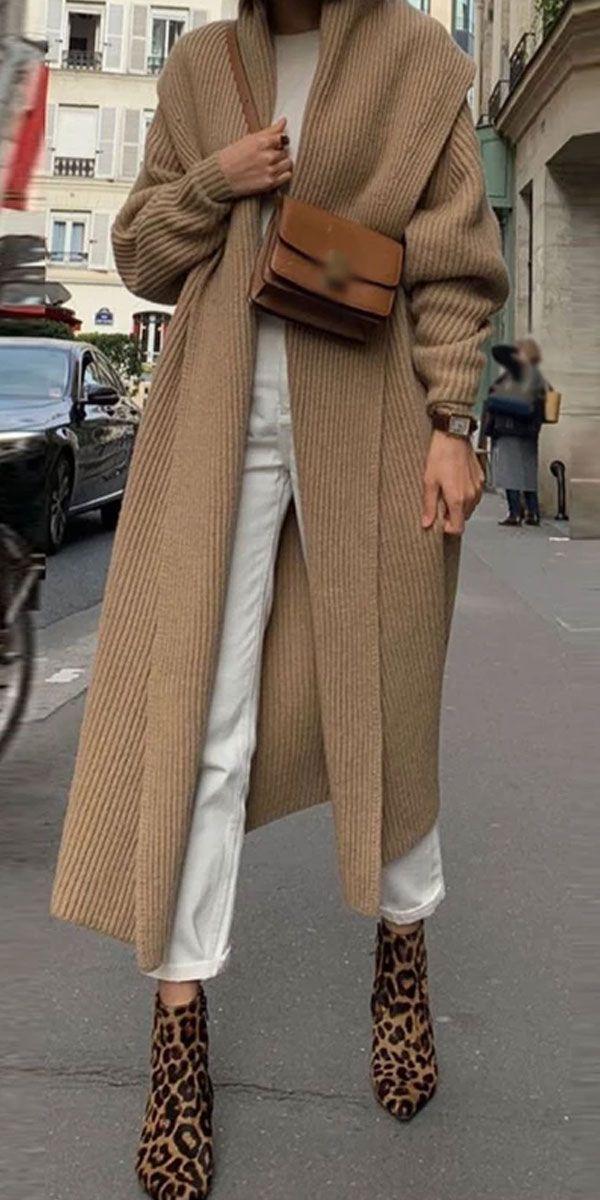 Long Sweater Coat #jeanjacketoutfits