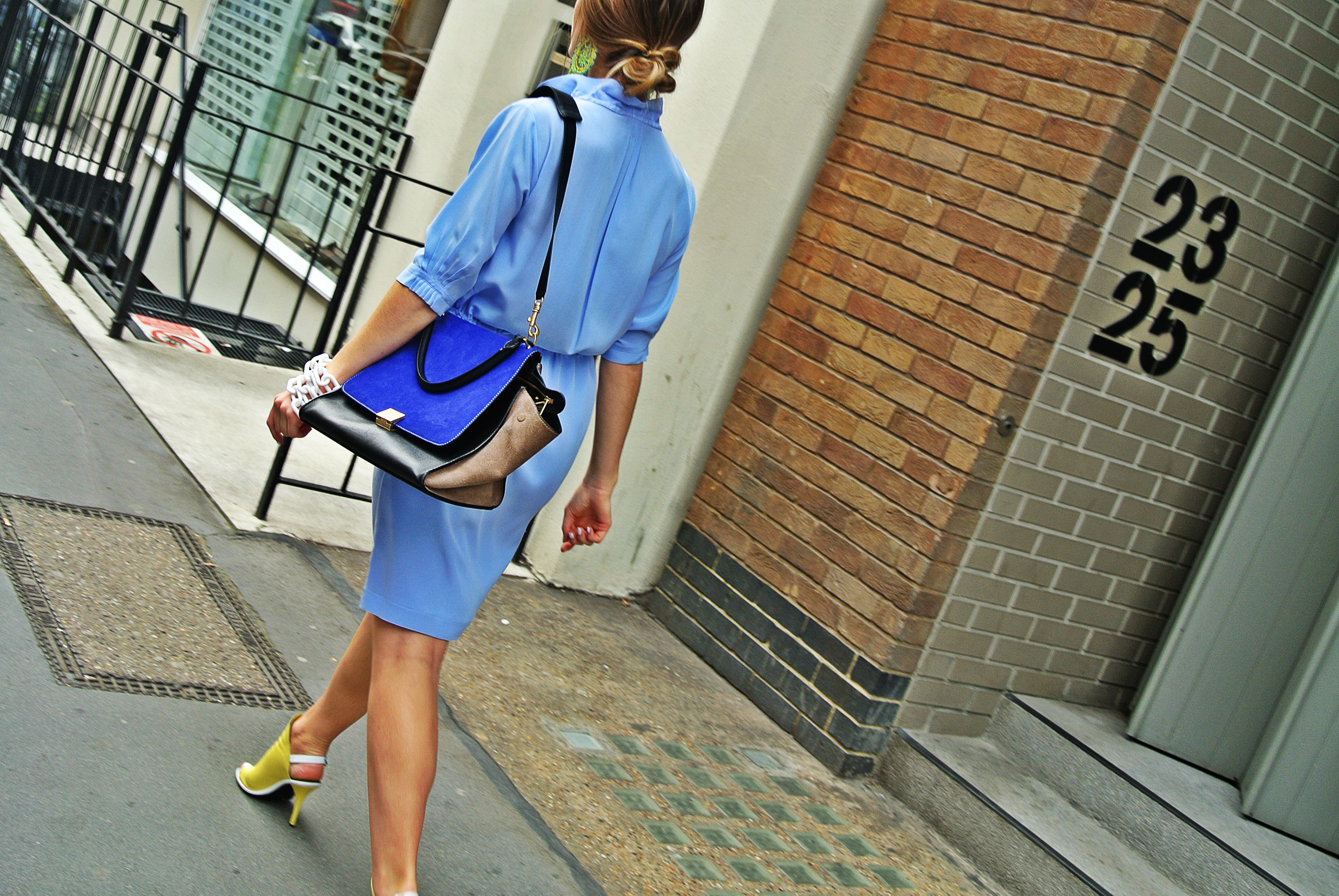 Perfect summer city look! Negarin dress, Balenciaga, Celine. Don't miss the chance to find your perfect outfit for this summer, take a look on: http://negarinlondon.com/store/