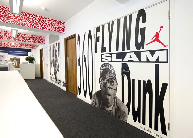 Nike Uk Headquarters Re Design By Rosie Lee Office Wall Design