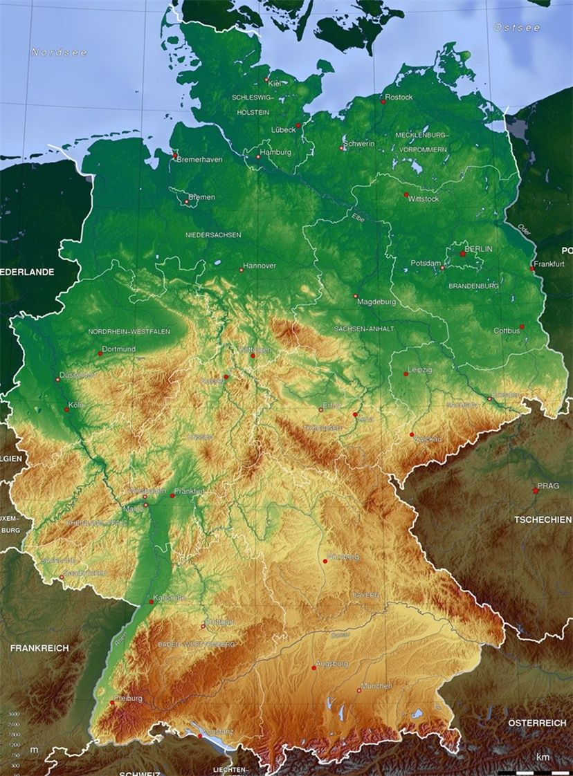Germania Cartina Muta.Raccontare Abrasivo Alto Germania Piantina Geografica Amazon Monzacorre It