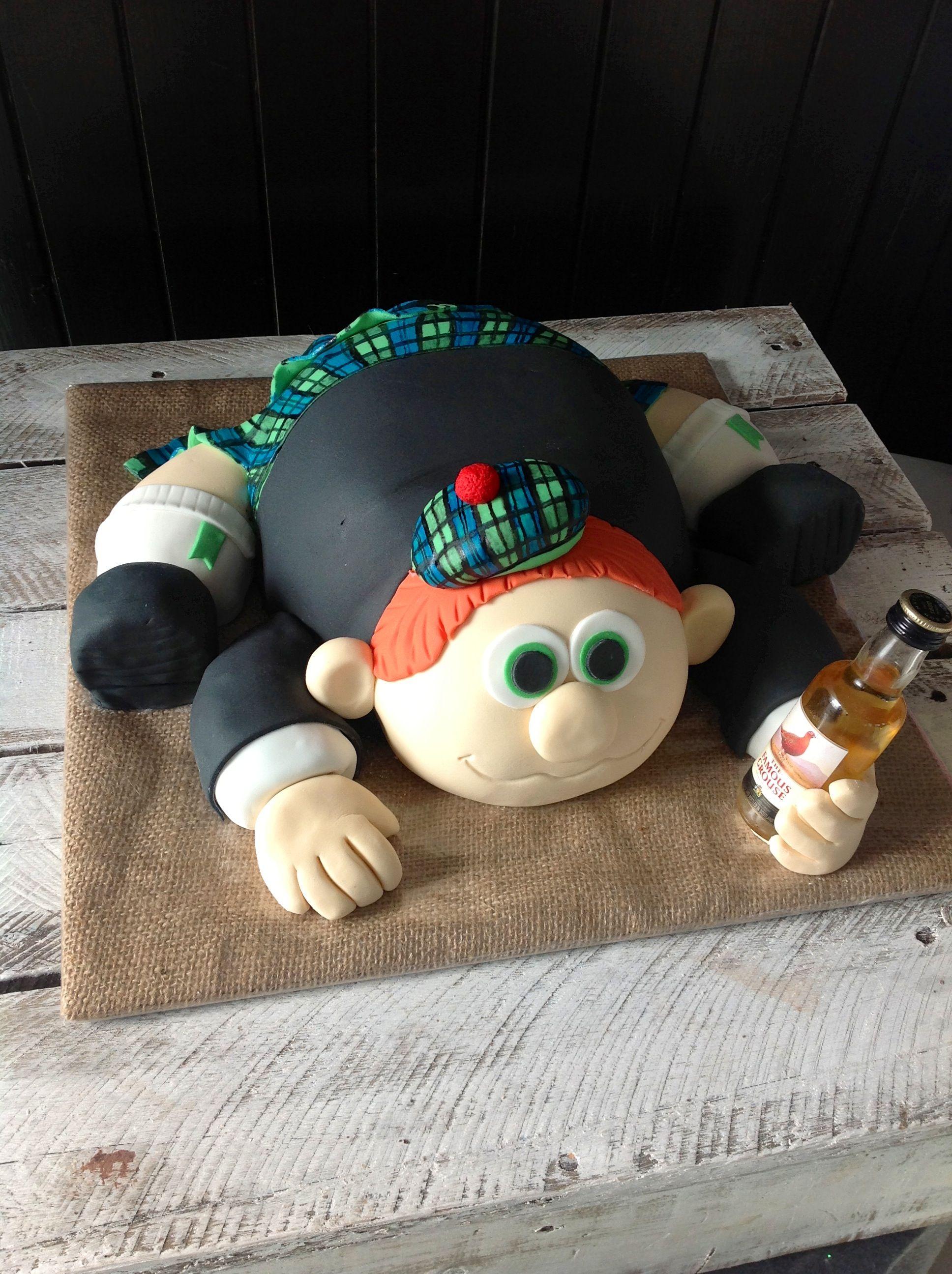 By Kaylee Haman Scottish Kilt Man Cake