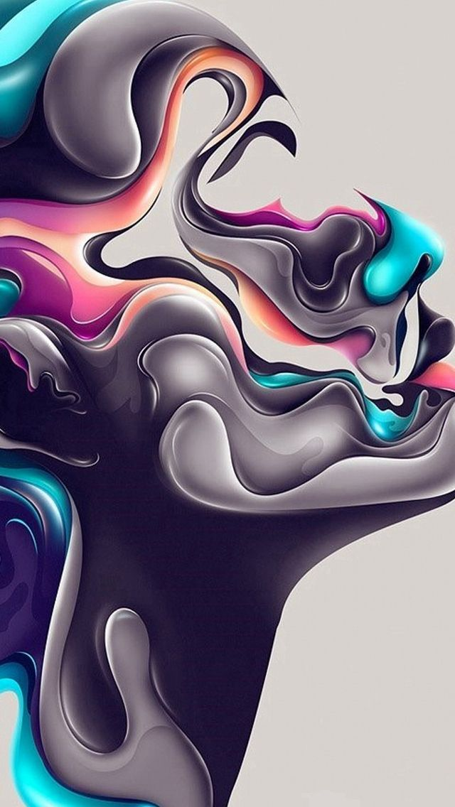 Abstract Design Steel Portrait Art #iPhone #5s #wallpaper