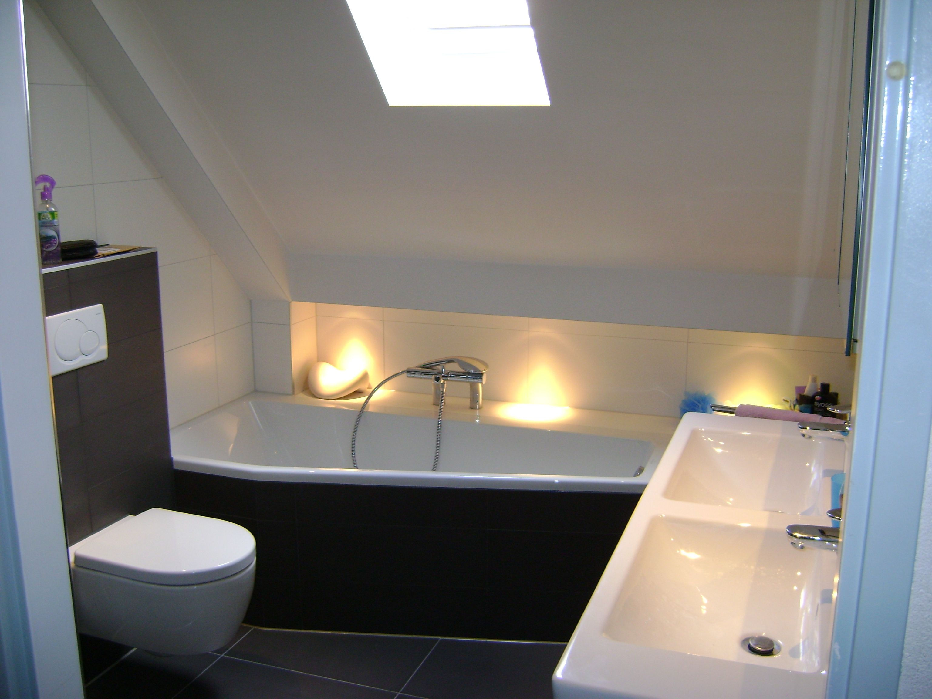 voorbeeld van een gerealiseerde badkamer en toilet door sanidrome