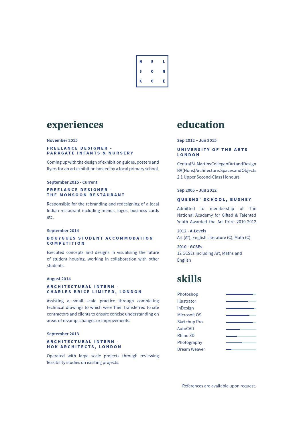 Graphic Design Portfolio 2015 Graphic Design Cv Resume Design