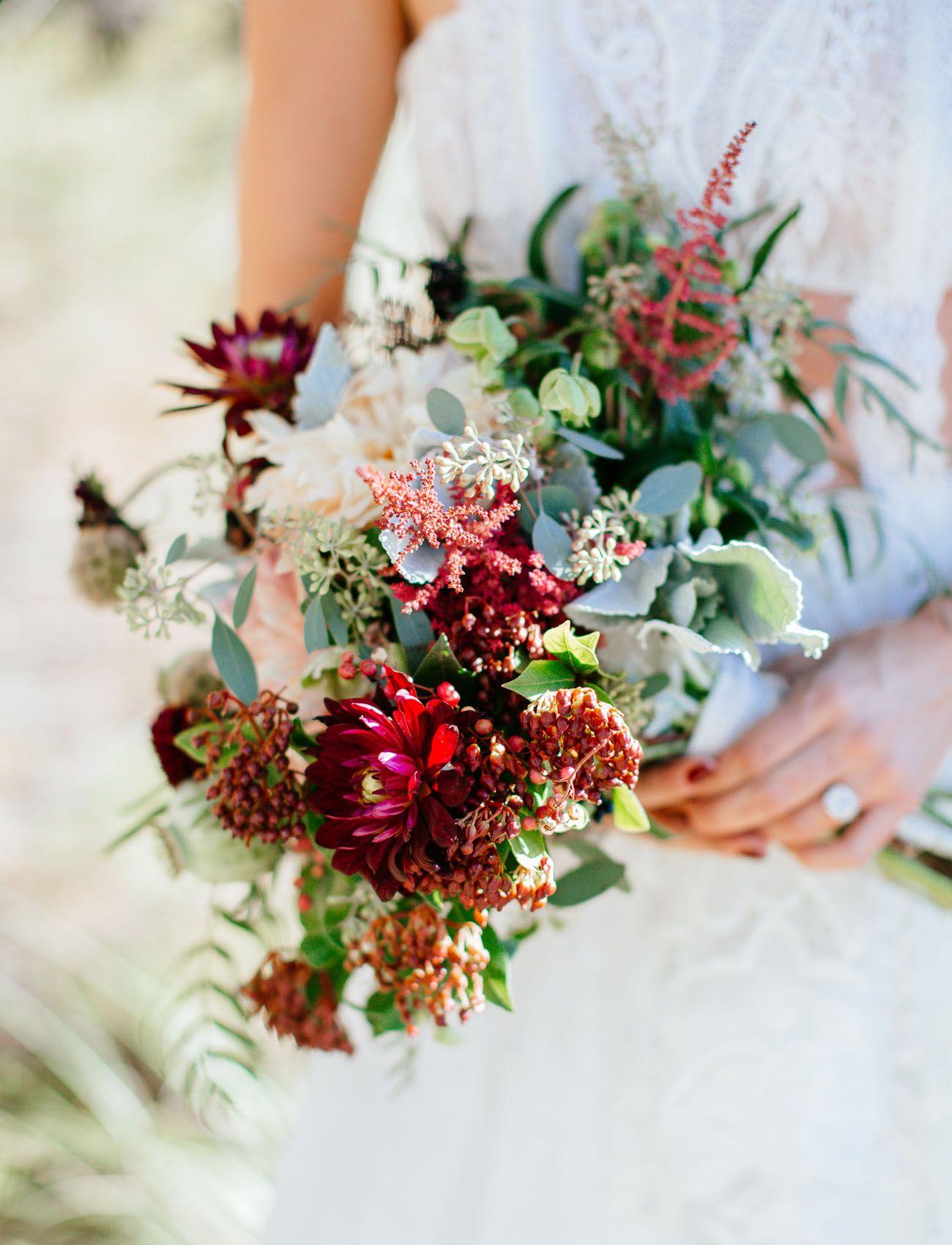 ac1428fd82b Desert Chic Wedding with Bold Embroidered Bridesmaids Dresses - Green  Wedding Shoes. burgundy desert bouquet