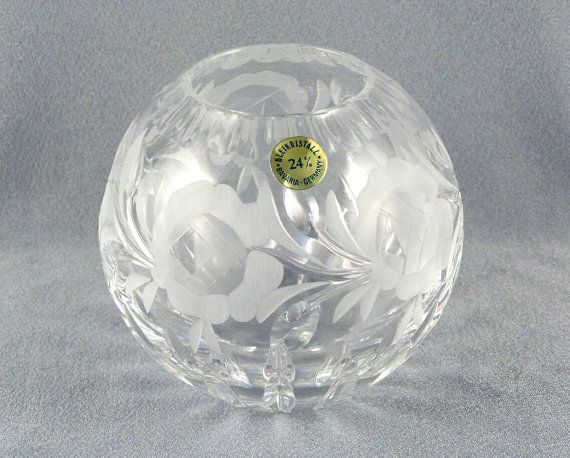 24 German Hand Cut Lead Crystal Ball Sphere by SiggisVintageAttic, $40.00