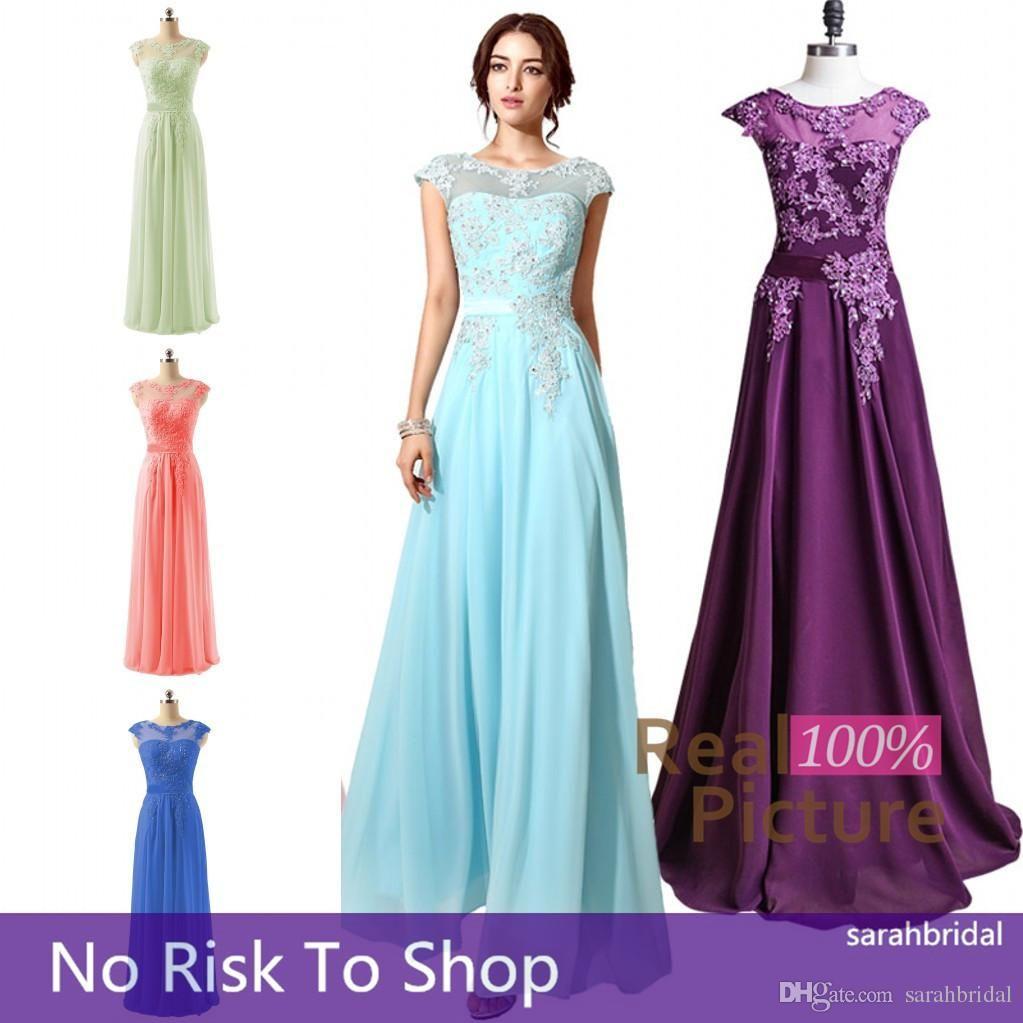 2015 Long Prom Dresses Cheap Under 70$ Original Fast Shipping Sheer ...
