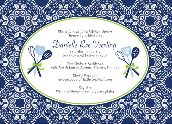 Good Printable Kitchen Shower Invitations Bridal By Lemonseedandco, $14.00 Part 11