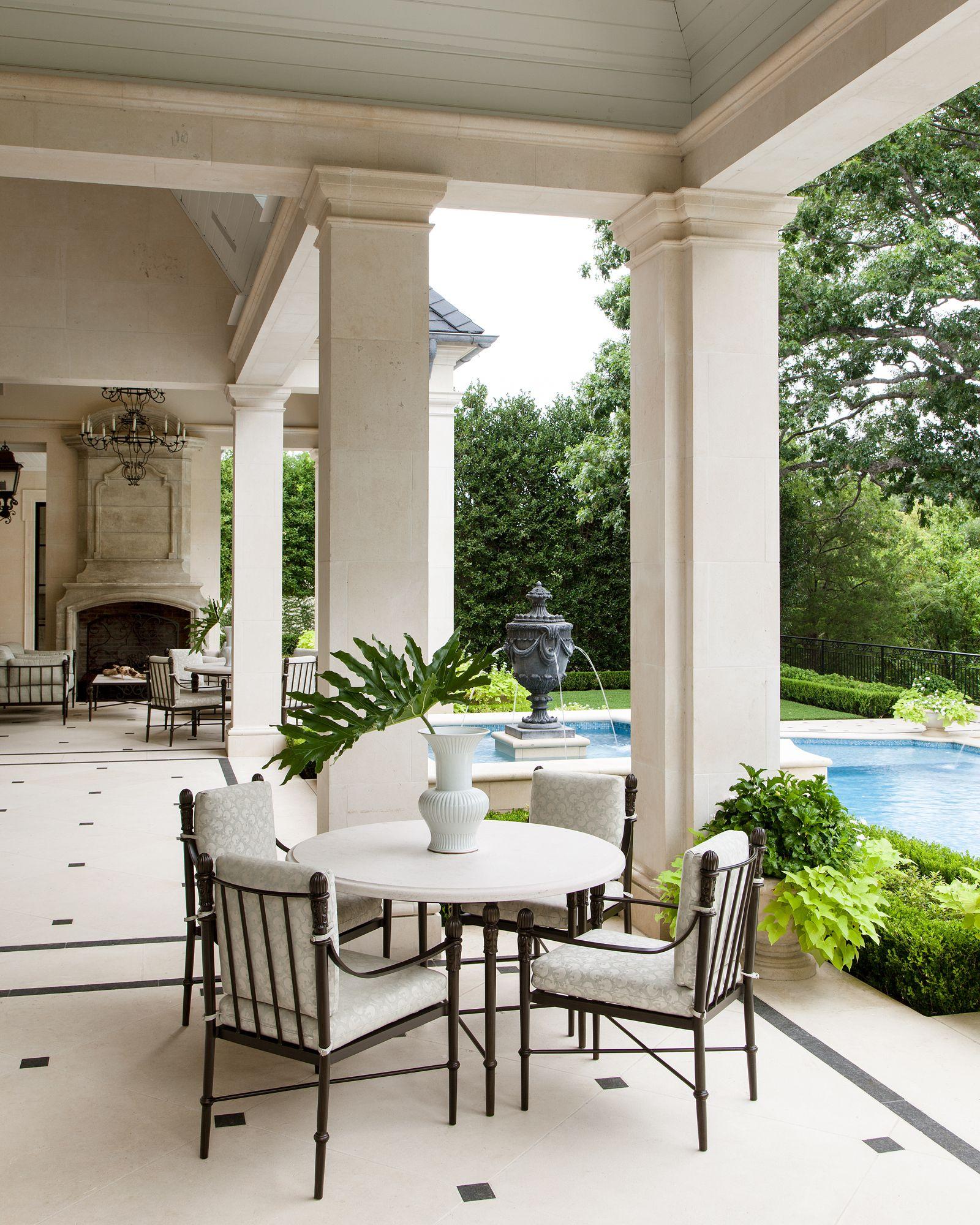 Virtual Living Room Set: Home Exterior ~ Covered Patio ~ Pool