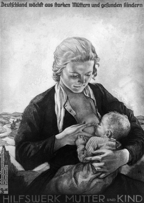 """Germany Grows through Strong Mothers and Healthy Children"": Propaganda Poster by the Mother and Child Relief Agency (1935)"