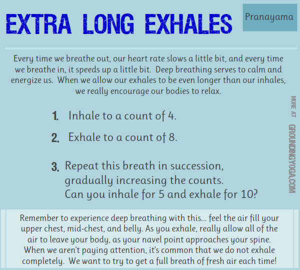 Extra Long Exhales... reducing stress and tension (perfect ...