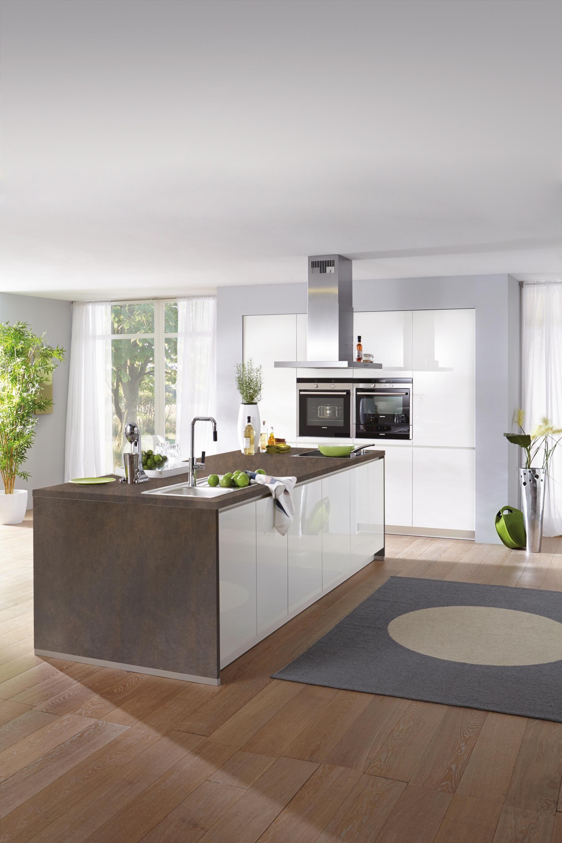 Moderne Einbauküche moderne einbauküche alnostar pearl alno zur individuellen