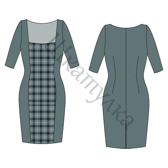 Vestidos con mangas Patrón Caso   patrones gratis de ropa ...