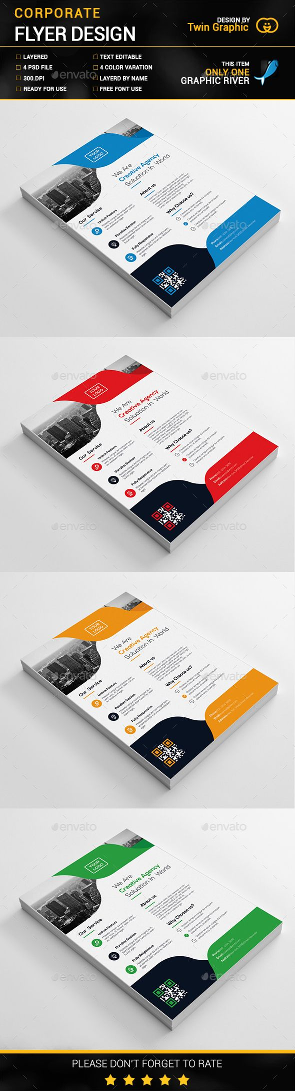 Corporate Flyer Design Template PSD. Download here: http://graphicriver.net/item/corporate-flyer-design/16367160?ref=ksioks
