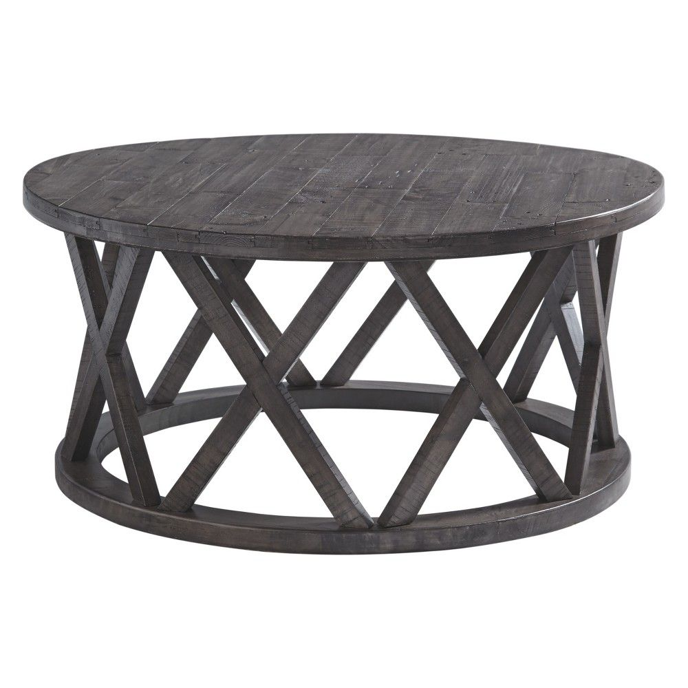 Sharzane Round End Table Taupe Signature Design By Ashley Round Cocktail Tables Coffee Table Round Coffee Table [ 1000 x 1000 Pixel ]