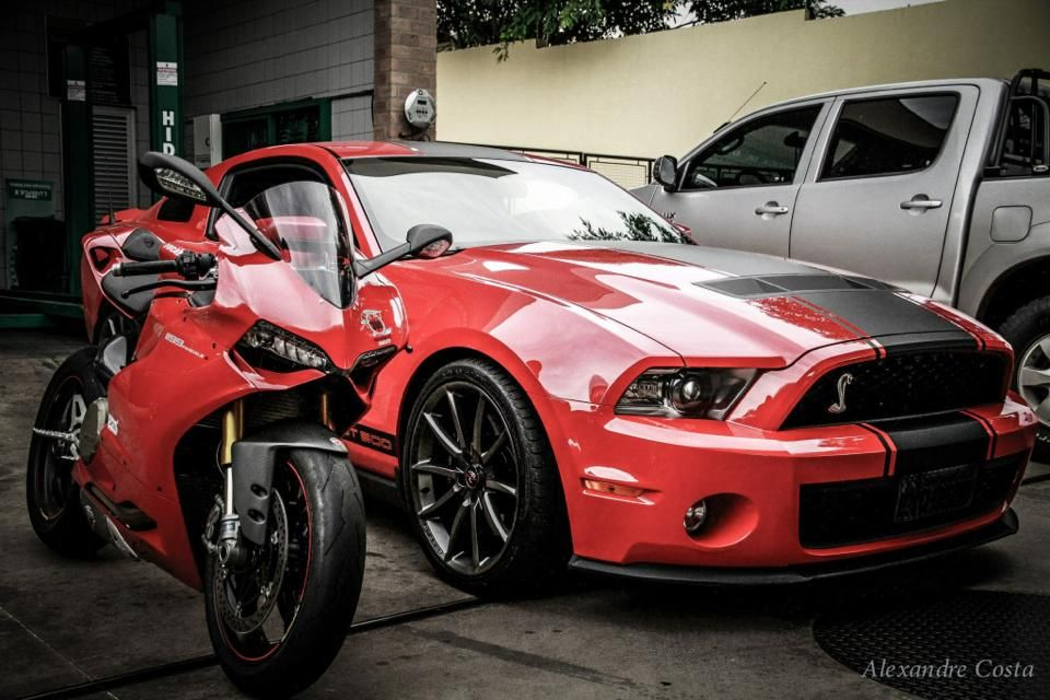 Ducati Panigale And Shelby Gt500 Cars And Motorcycles