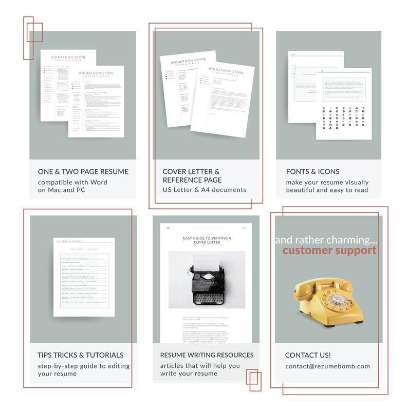 Resume Professional Resume Template Minimalist Resume