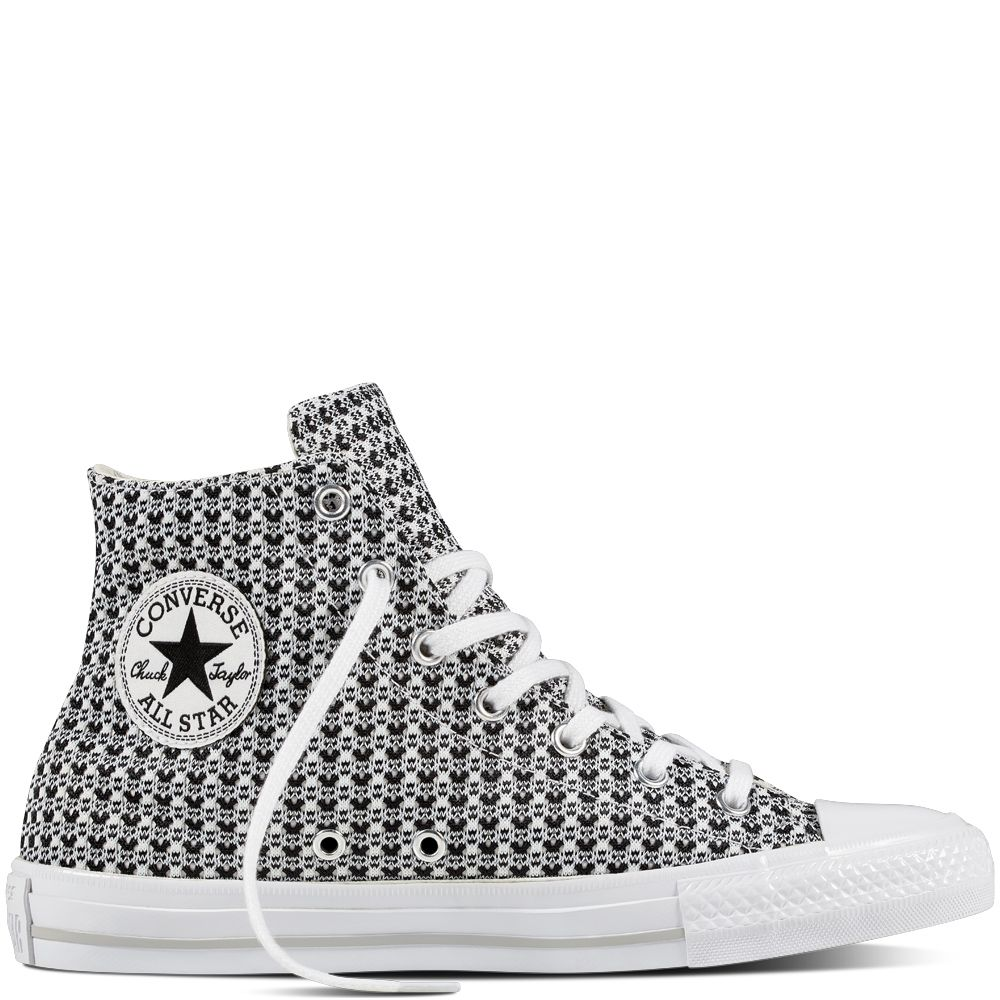 Chuck Taylor All Star Gemma Festival Knit Black/White/Mouse
