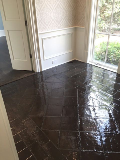 Design Indulgence Before And After Staining Saltillo Tile Saltillo Tile Floor Tile Floor Saltillo Tile