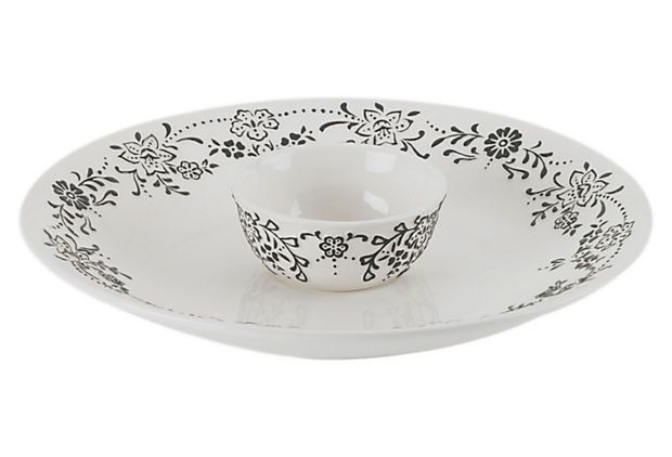 "This Oleg Cassini ""Ava"" chip and dip is great item to add to you hoilday table!"
