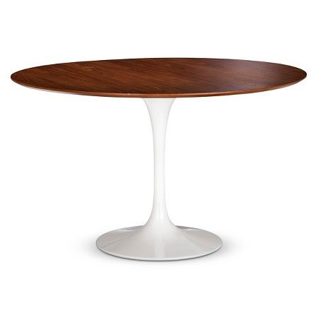 Catalina Modern Round Dining Table - Walnut, White : Target | $449.99 on sale