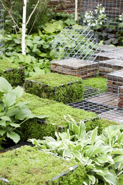 Small Garden Minecraft Ideas: Customizable Gabion Garden