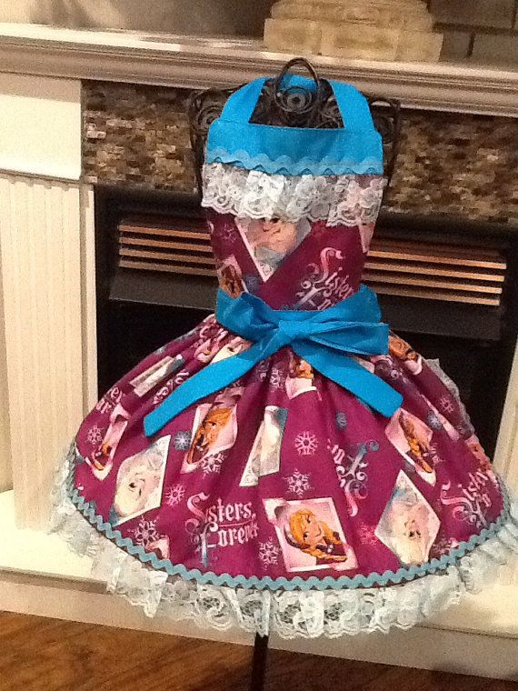 NEW Girls Retro Elsa Anna  Sisters Forever by MothersApronString