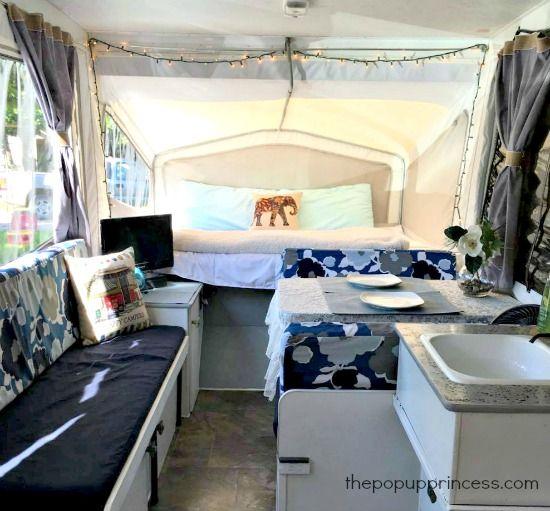 Judy S Pop Up Camper Makeover Pop Up Camper Remodeled Campers