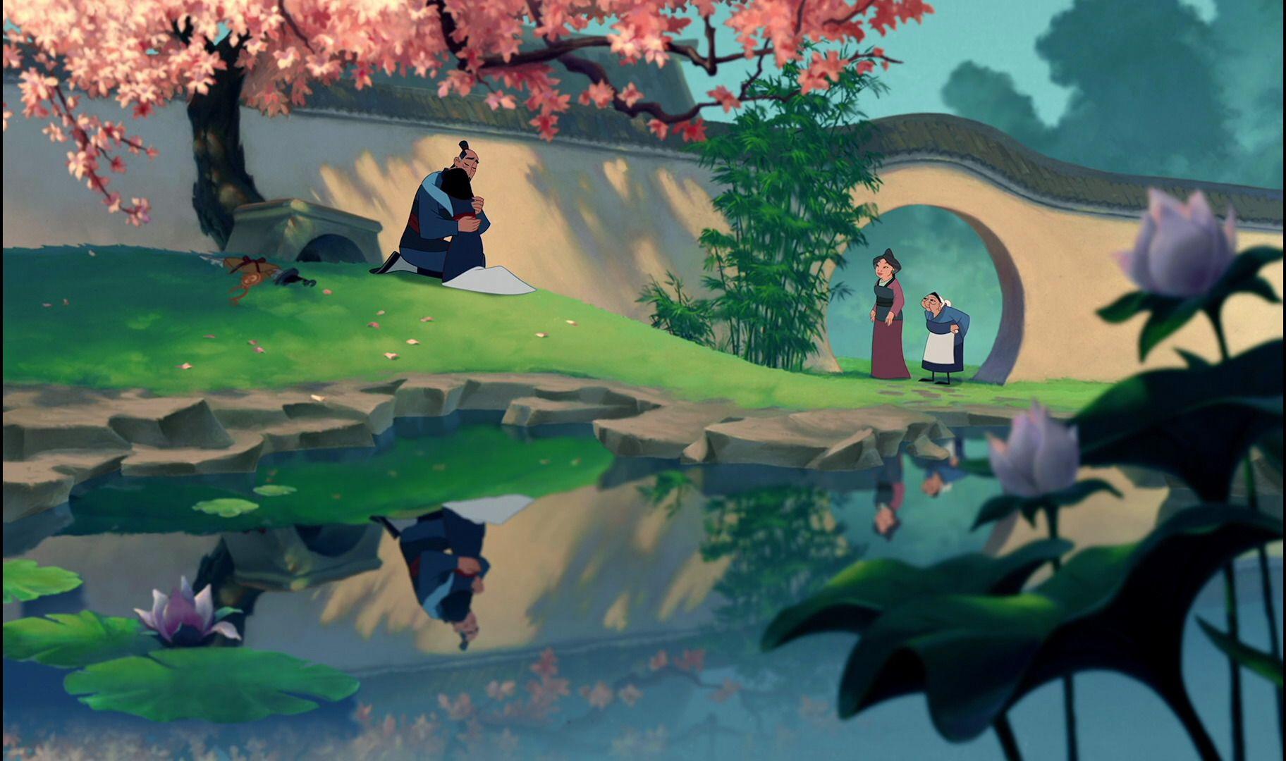 Mulan landscape art #disneyart #landscapeart