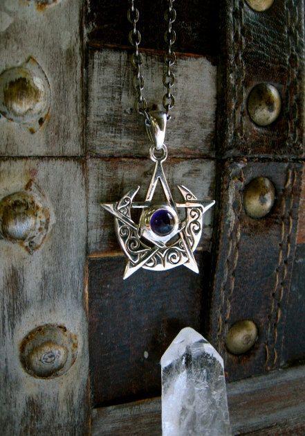 celtic moon pentacle pendant by eirecrescent on etsy celtic moon pentacle pendant by eirecrescent on etsy mozeypictures Choice Image