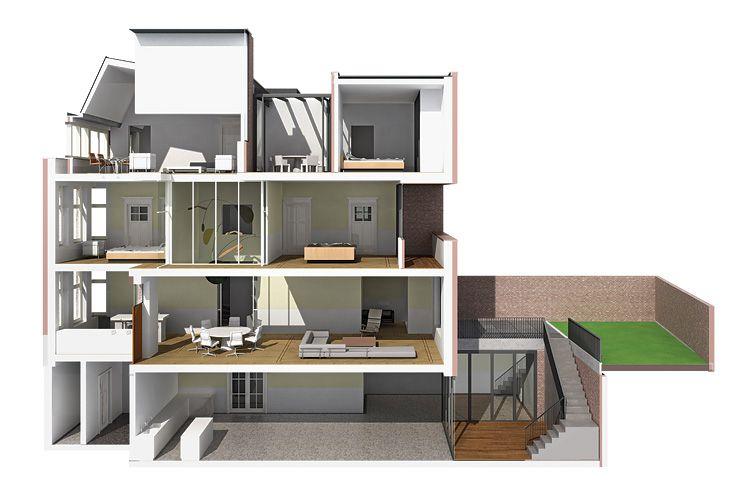 Amira dit is een doorsnede van een huis 7 de doorsnede pinterest van - Model van huisarchitectuur ...