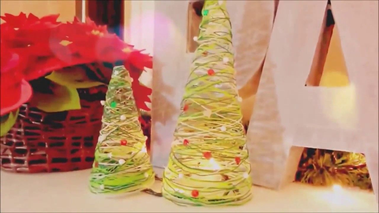 Manualidades faciles para navidad arbolitos de navidad diy hechos con rbol navidad - Decoraciones de navidad manualidades ...