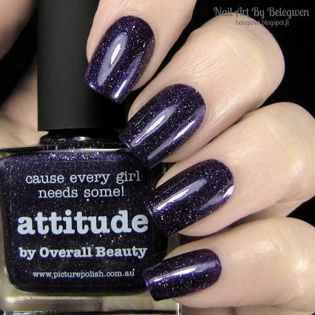 Nail Art By Belegwen: #picturepolish Attitude
