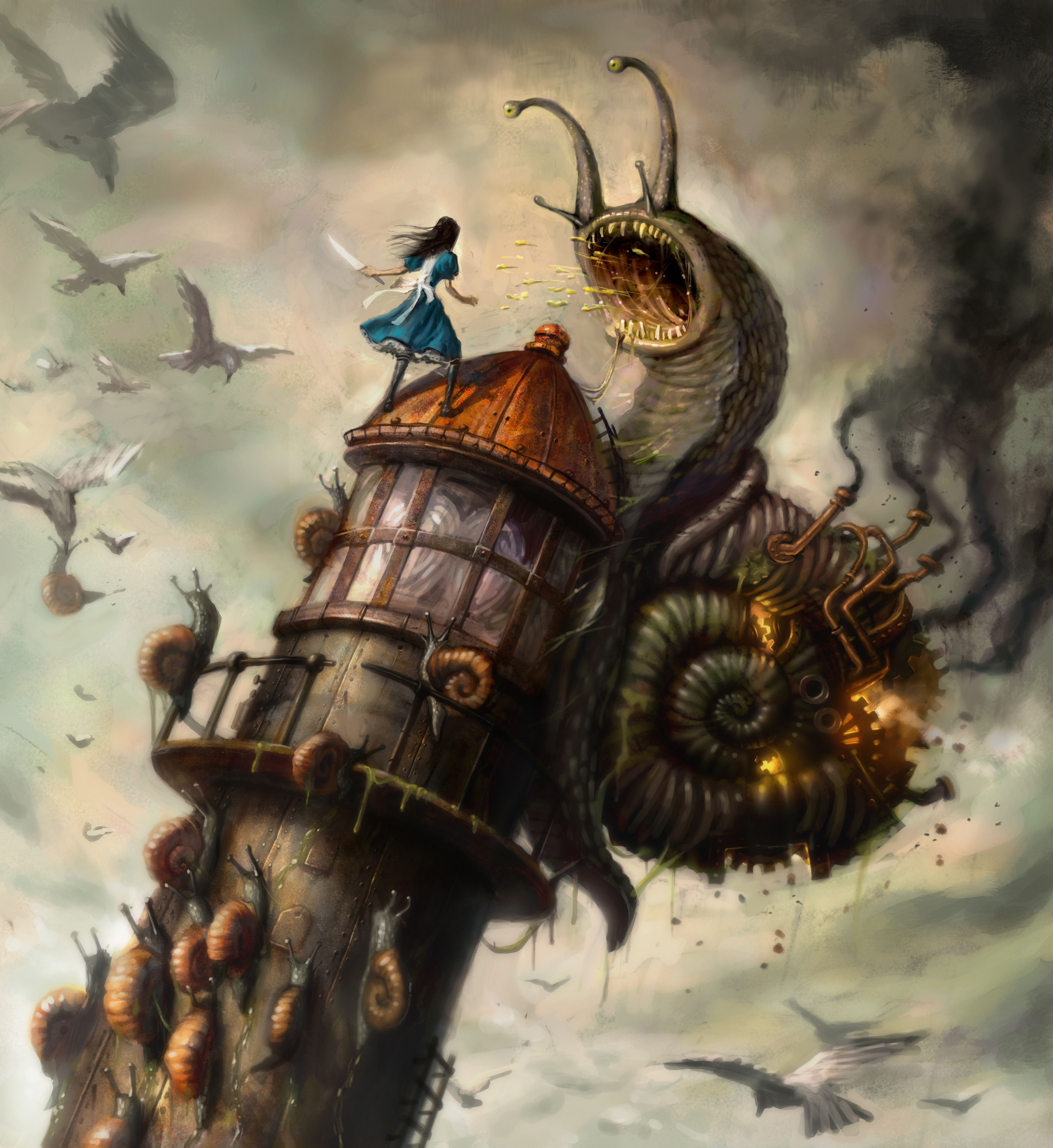 Promotional Art For The Game Alice Madness Returns Steampunk