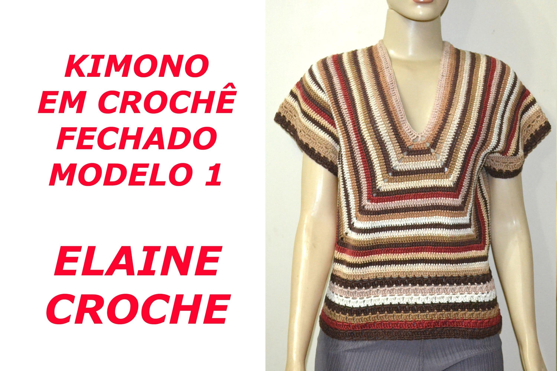 KIMONO EM CROCHÊ - FECHADO MODELO 1