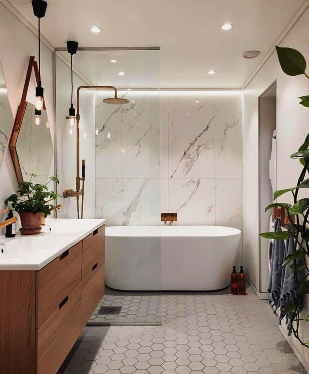 Minimalist Bathroom Ideas Pinterest Via Bathroom Ideas Double Vanity Both Bathroom Ideas Master Bat Modern Master Bathroom New Bathroom Designs Modern Bathroom