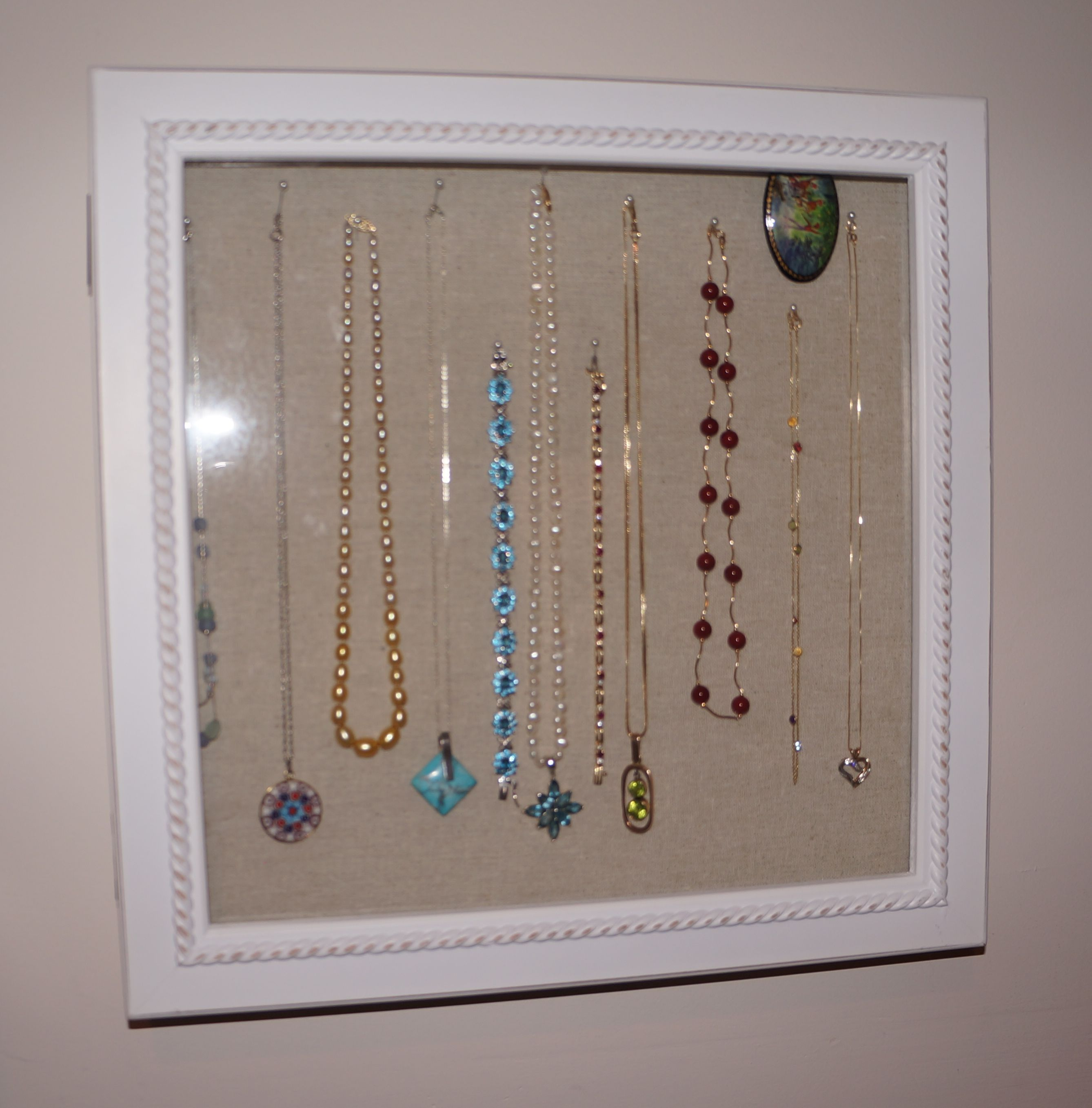 I thought to myself Now this could make a great jewelry organizer