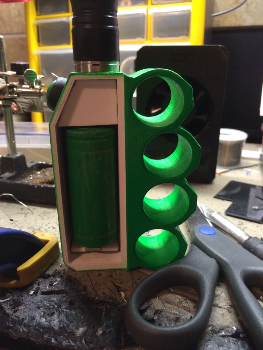 3D printed knuckel box mod. Diy box mod, Vape mods box