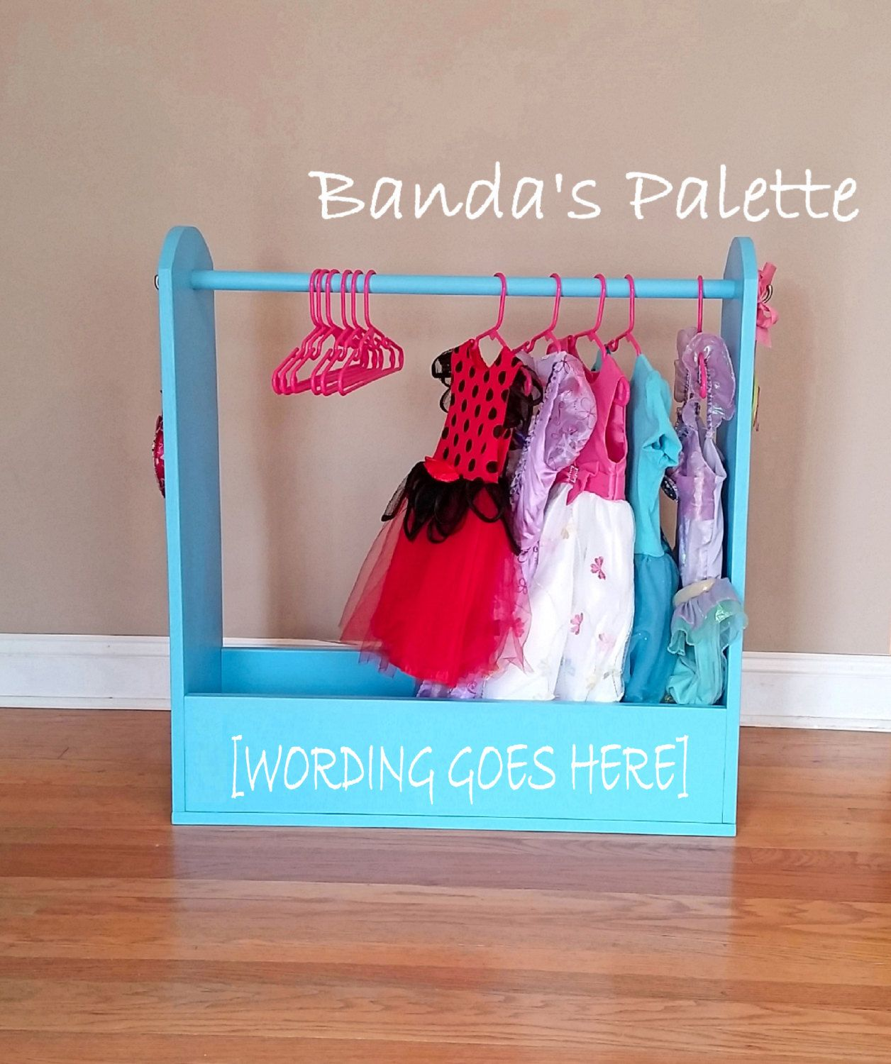 Children/'s dress up station mdf Can be Personalised Wooden Dressing up stand