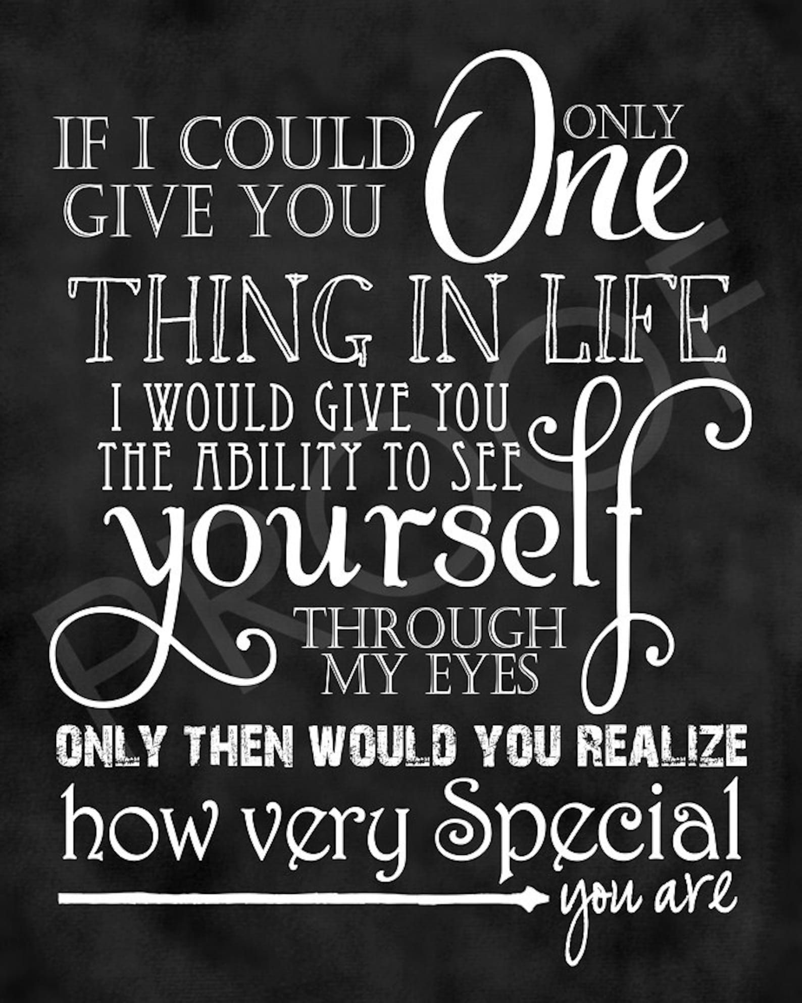 Scripture Art  How Special You Are quote   Etsy