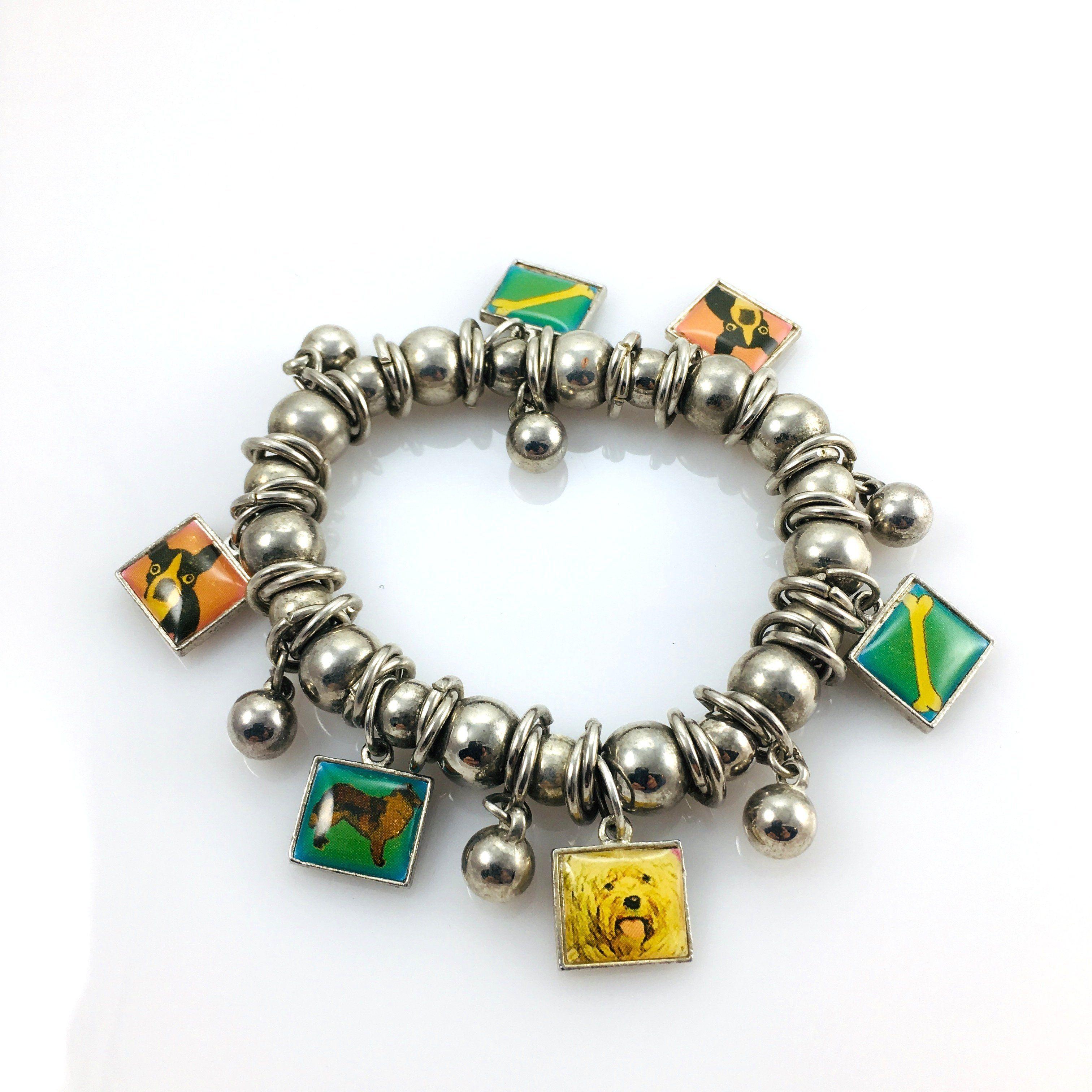 50pc Retro Tibetan Silver DOG Charm Beads Pendant Findings wholesale R529Q