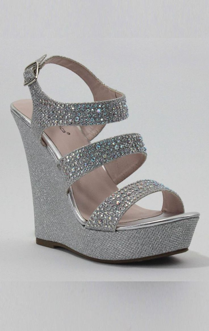 Love These Sparkly Wedges Sparkly Wedding Shoes Wedge Wedding Shoes Silver Wedge Wedding Shoes