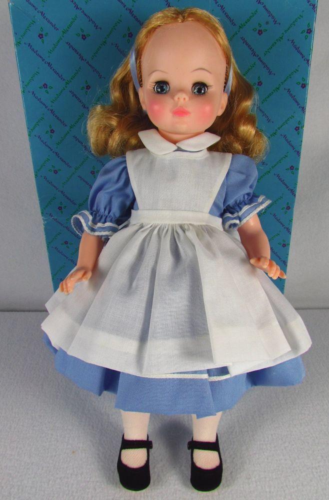"Madame Alexander ""Alice in Wonderland"" Doll in Original Box #1552, 14"" #MadameAlexander #DollswithClothingAccessories"