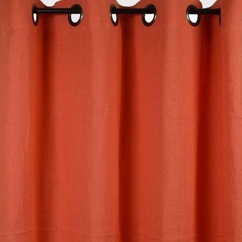 couleur corail le grand rideau en lin