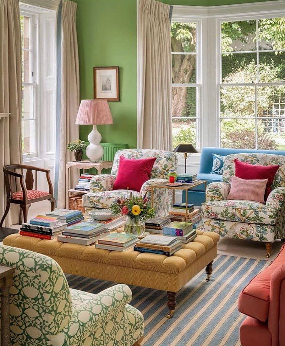 Oh So Gorgeous Design On Instagram The Secret Garden The Secret Is That This Garden Is Indoors I Just Love How Happy A Living Room Designs Home Room Design