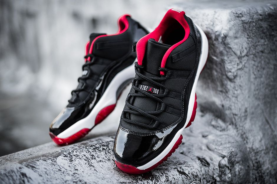 The Nike Air Jordan 11 (XI) Low Bred - Releases 5 23 15 -   OFFICIAL  IMAGES   1b0b0a9a6