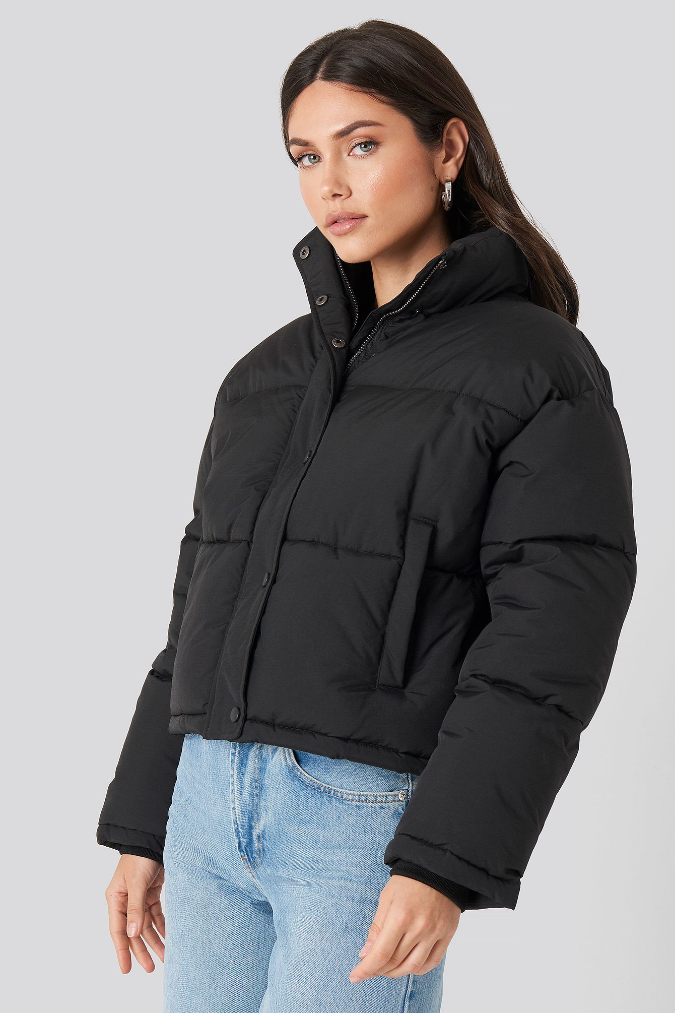Short Padded Jacket Schwarz