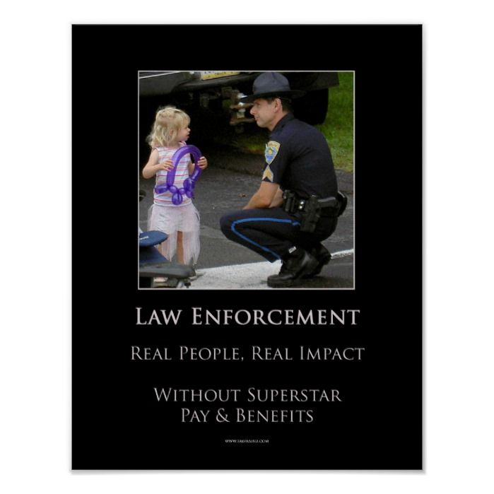 Law Enforcement Poster | Zazzle.com