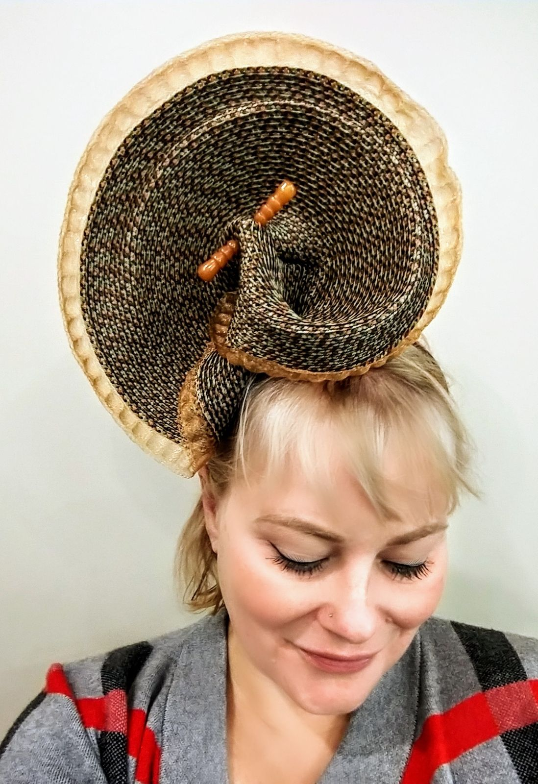 Fall Leaves Bring Fall Hats By Forme Millinery Hand Sculpted On An 1800 Braid Machine Www Formemillinery Com Fall Handmade Hat Millinery Hats Millinery